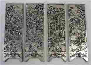 Rare 19th C. Miniature Chinese panels