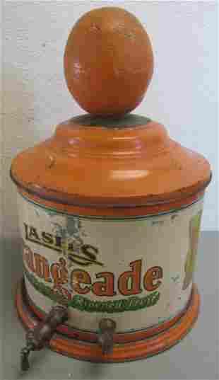 Rare C1900 Lash's Orangeade dispenser