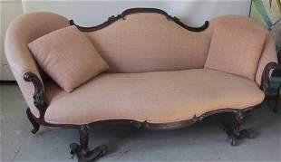 19th C. Victorian American Rosewood sofa