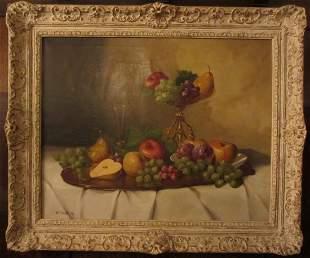 Ea. 20th C. Still life of fruit signed A. Kirtelei