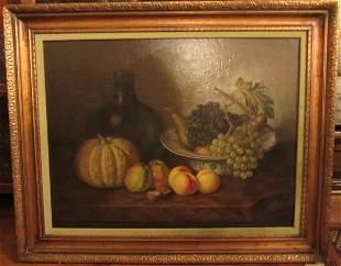 Ea 20th C. still life of fruit signed H.V.D Velde