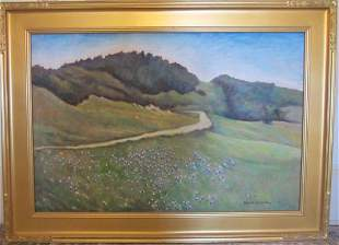 Ea. 20th C. signed Edward W. Hicks landscape