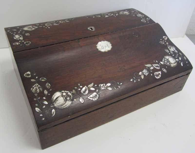 Fine Quality 19th C. Rosewood lap desk