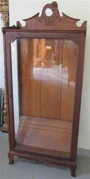 C1890 Quartersawn oak Art Nouveau style china