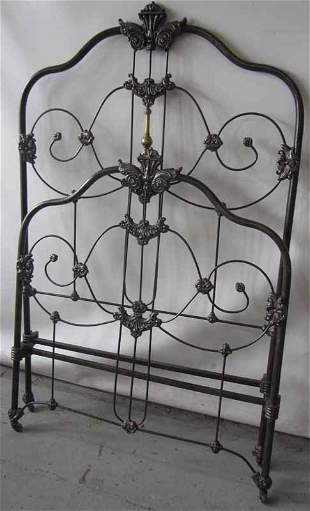 C1900 Bronze and iron twin size bed