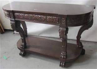C1890 American detail carved Mahogany pier table