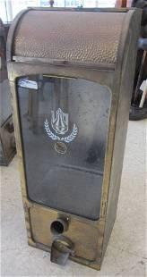 C1910 Hand hammered brass coffee bean dispenser