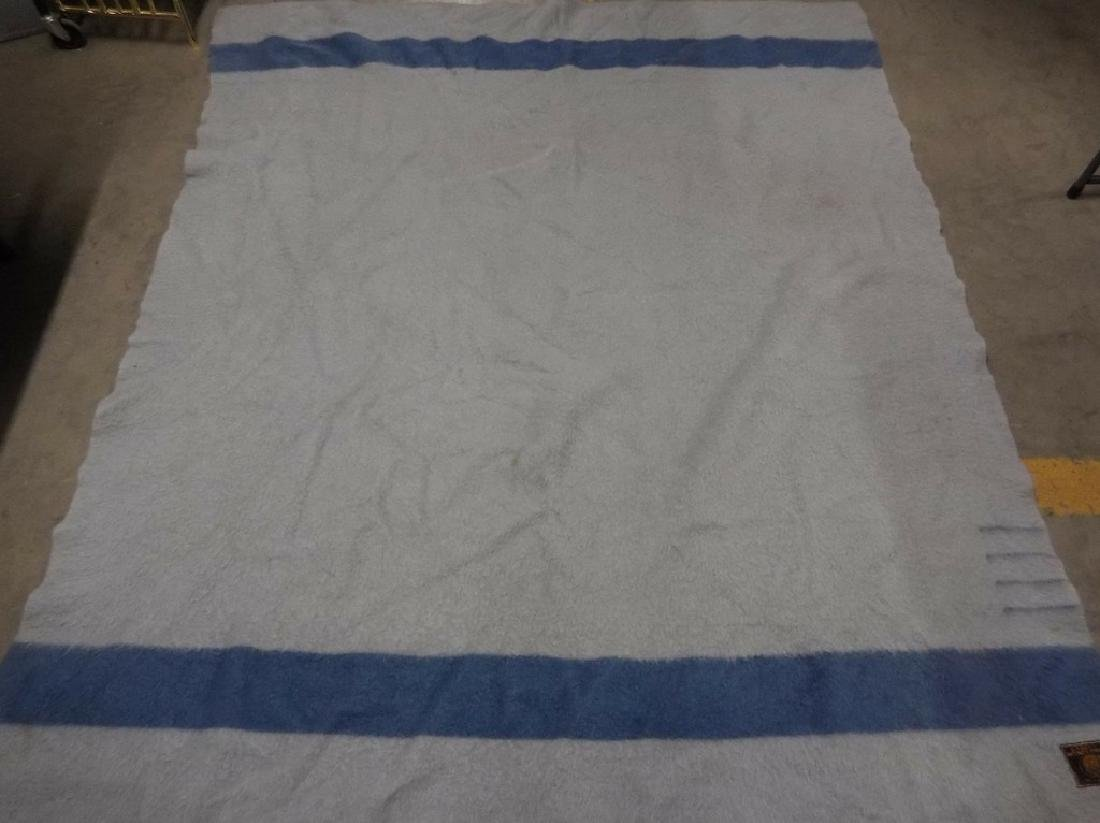 Vintage Whitney Point pure Wool Blue Blanket, made in