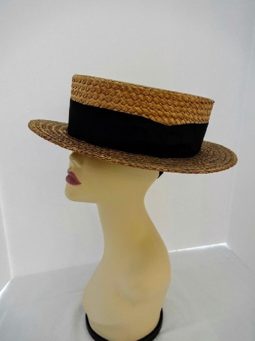 Men's Vintage Straw Boater Hat, Macartney's, size 7 3/8