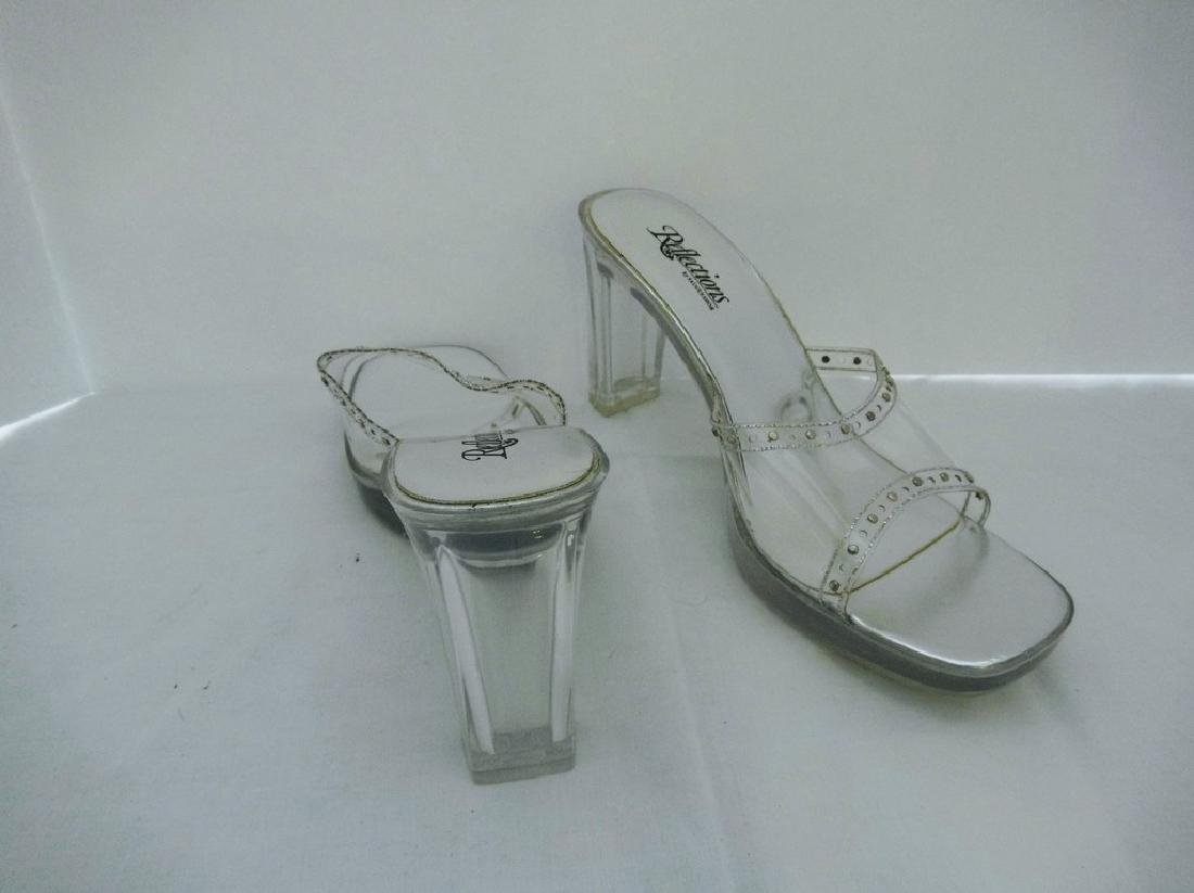 "Large size 11 Women's Lucite Shoes, ""Reflections by - 2"