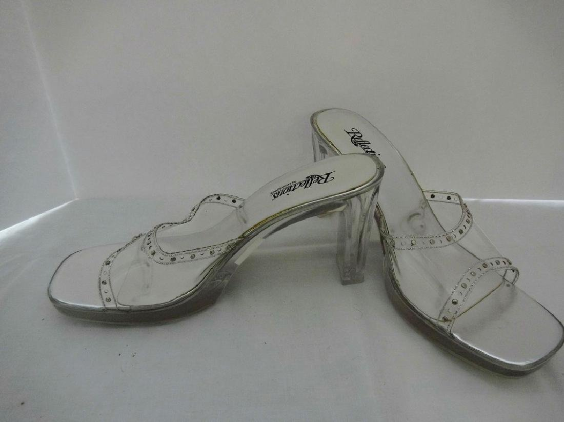 "Large size 11 Women's Lucite Shoes, ""Reflections by - 3"