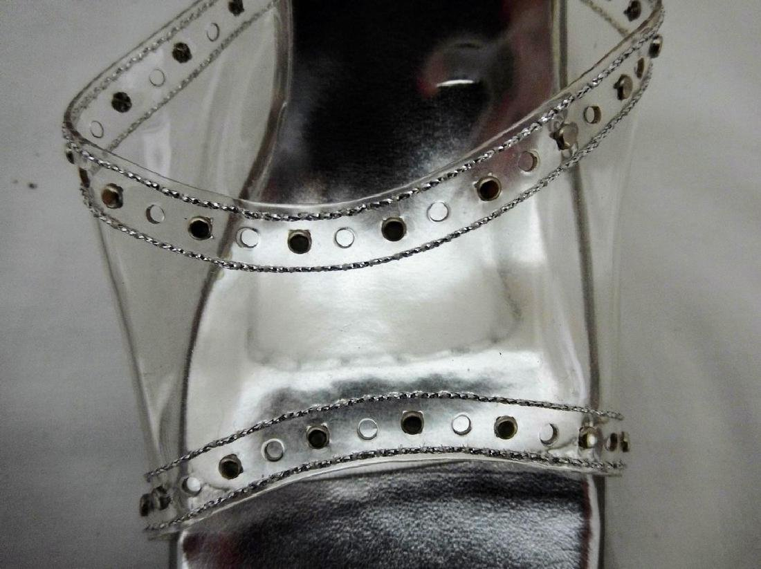 """Large size 11 Women's Lucite Shoes, """"Reflections by - 8"""