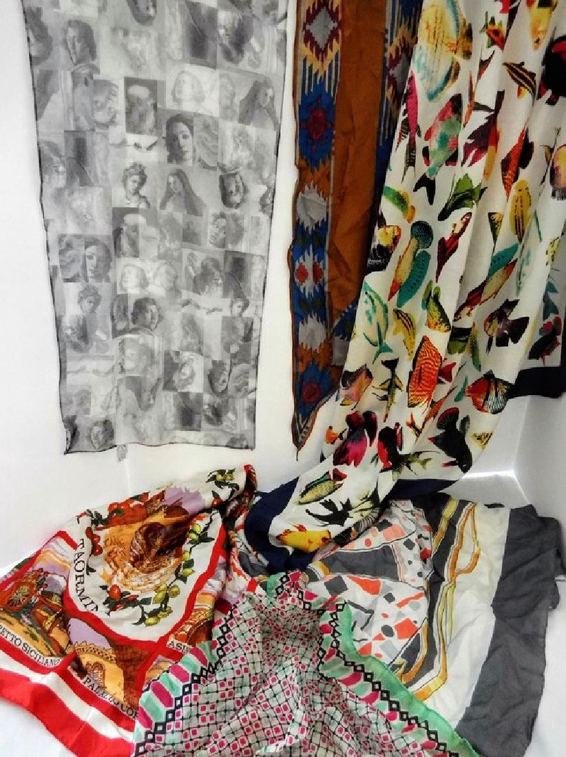 Lot of Vintage Scarfs, Silk and more