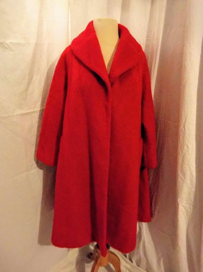 """Lilli Ann"" Paris, Vintage Women's Red Wool Swing Coat"