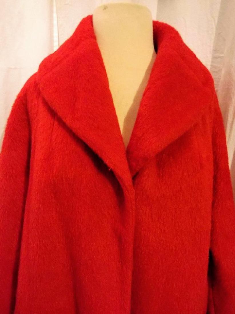"""Lilli Ann"" Paris, Vintage Women's Red Wool Swing Coat - 2"