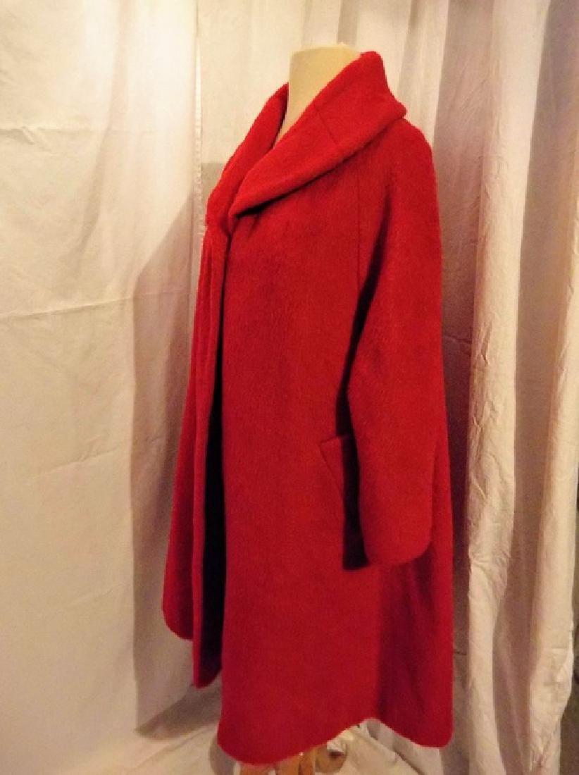 """Lilli Ann"" Paris, Vintage Women's Red Wool Swing Coat - 3"