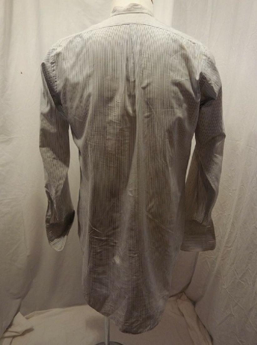 Men's Vintage Collarless Stripe Dress Shirt by Columbus - 3