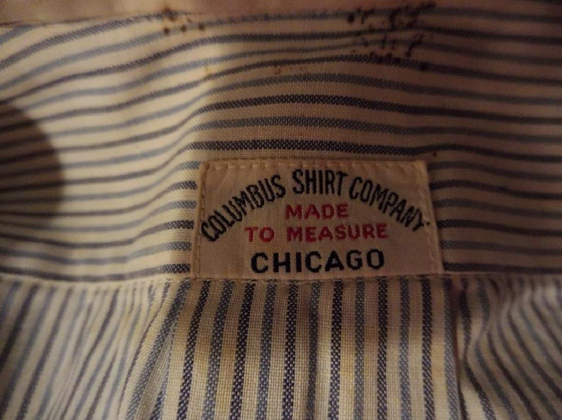 Men's Vintage Collarless Stripe Dress Shirt by Columbus - 5