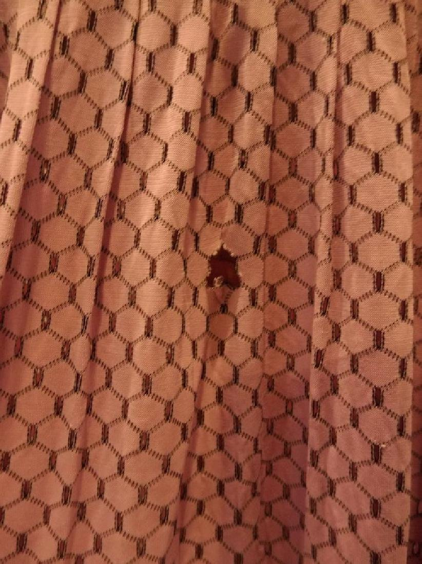 1930's Lilac poly blend Eyelet Shirt Waist Dress - 4