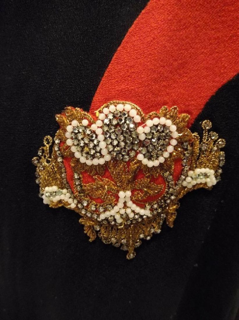 1940's Black & Red Rayon blend Sheath Dress - 4
