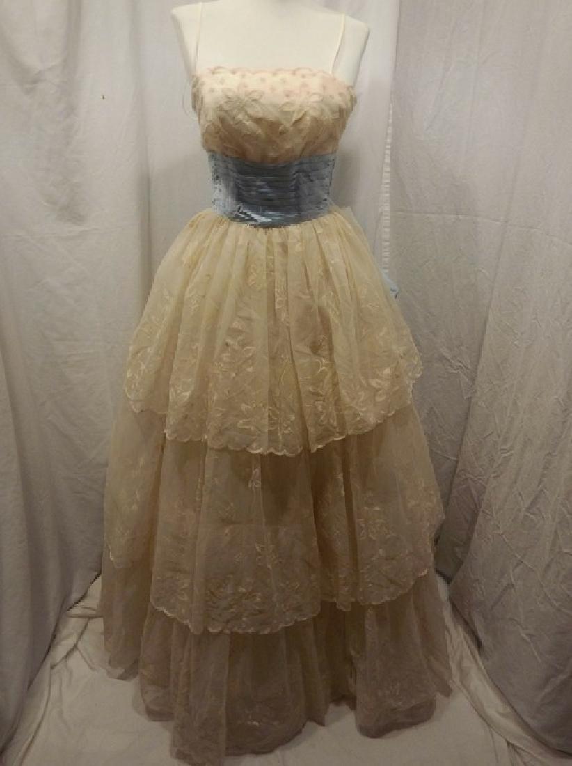 1950/60's Princess Prom Dress with Spaghetti Straps