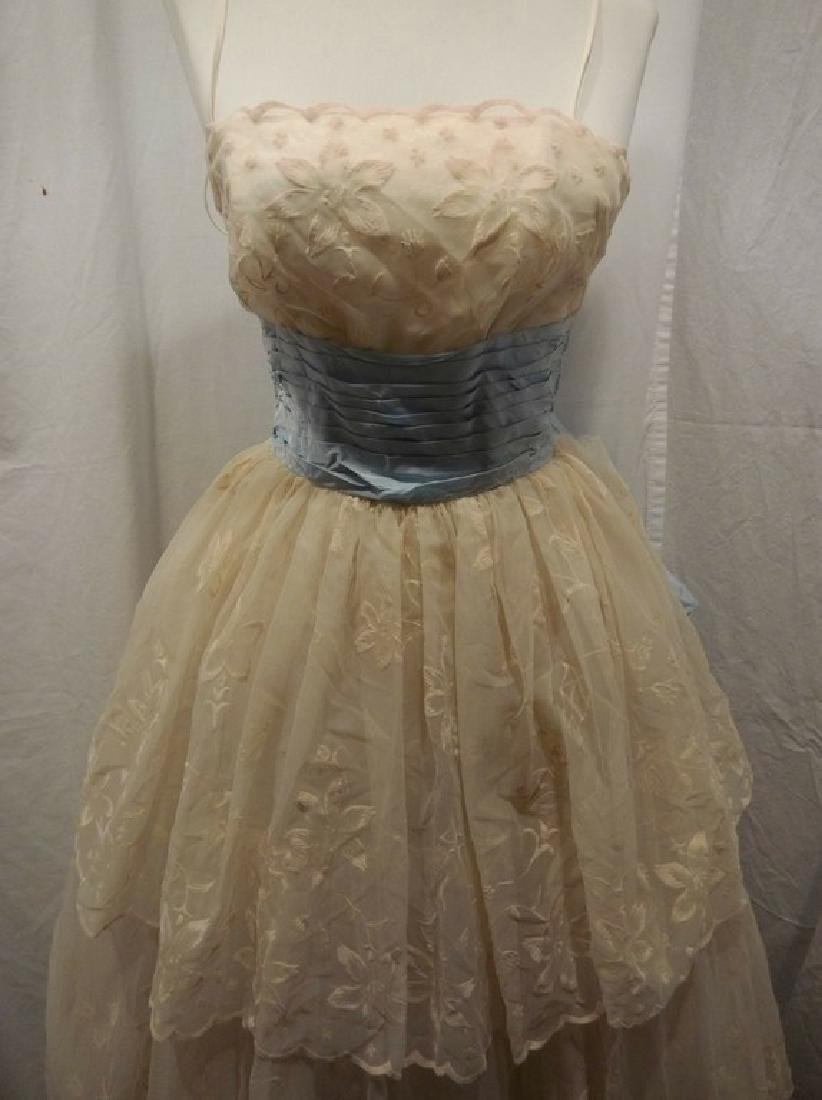 1950/60's Princess Prom Dress with Spaghetti Straps - 2