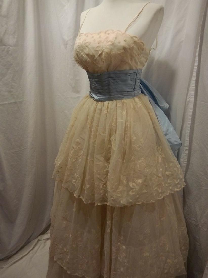 1950/60's Princess Prom Dress with Spaghetti Straps - 3
