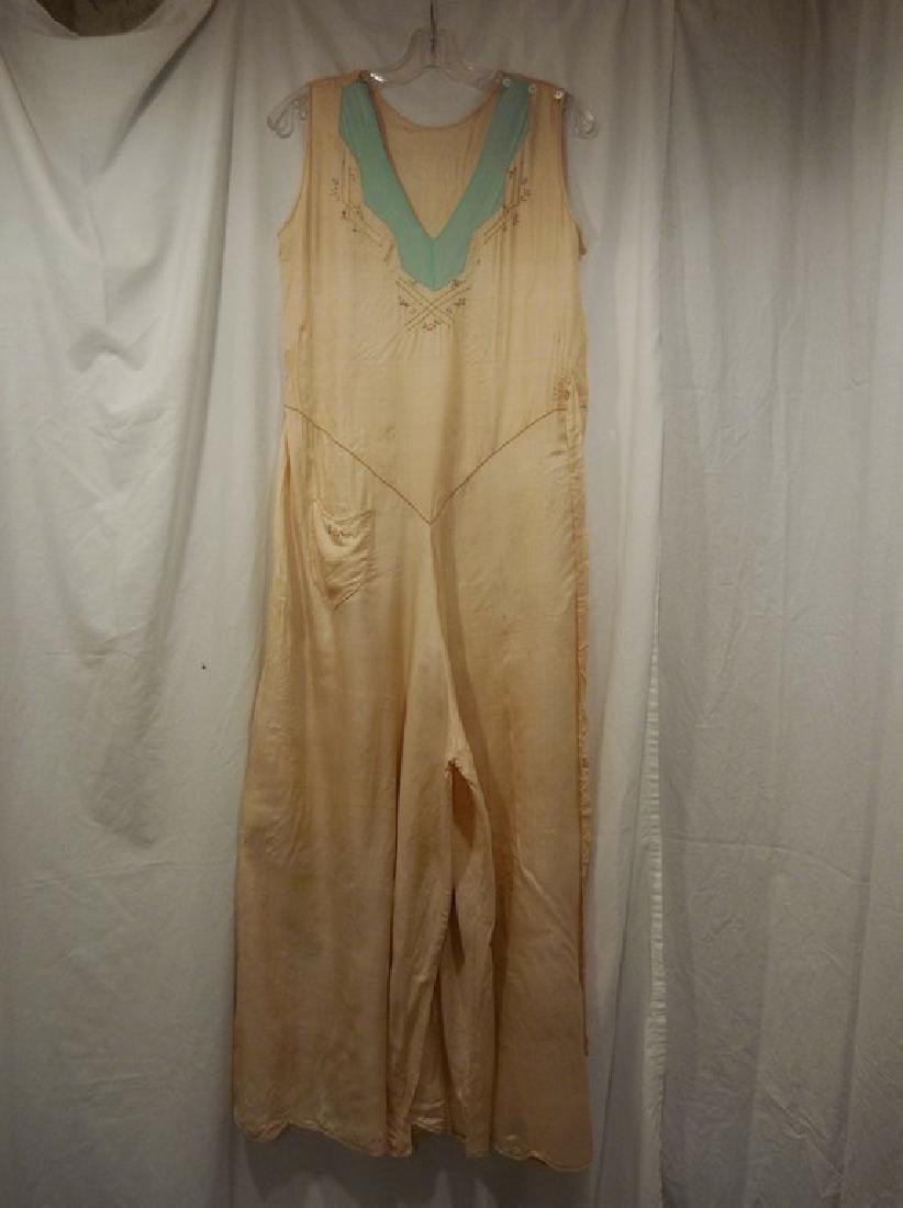 1930's Silk 1 piece Lounge/ Pajama outfit