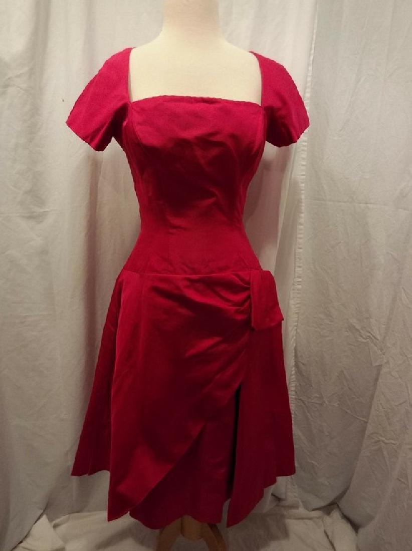 1960's Fuchsia Pink Cocktail Party Dress by Estevez