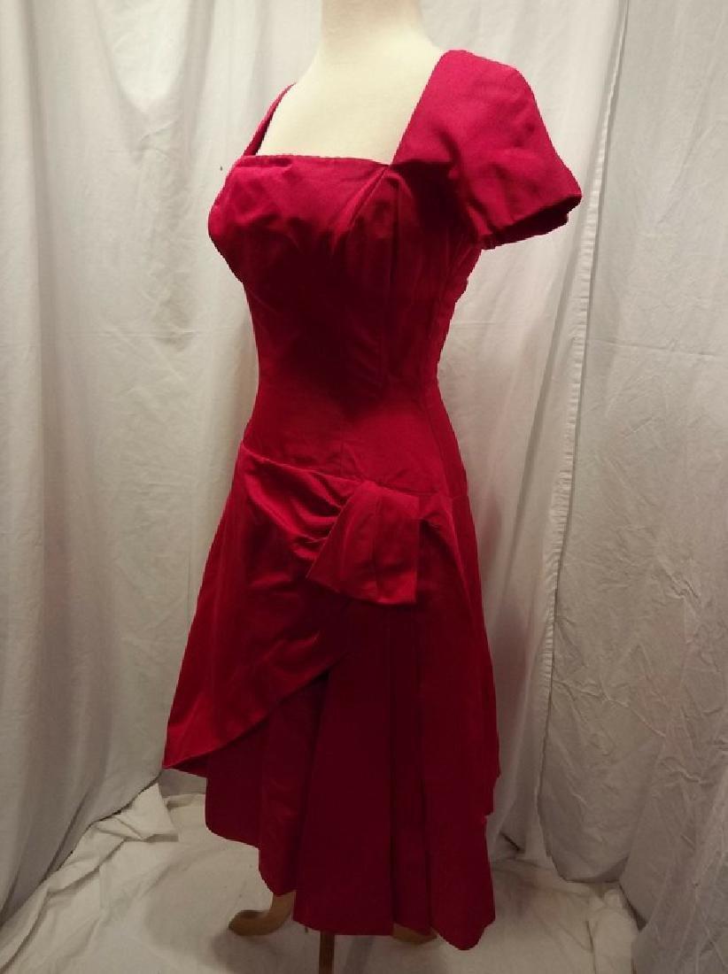 1960's Fuchsia Pink Cocktail Party Dress by Estevez - 4