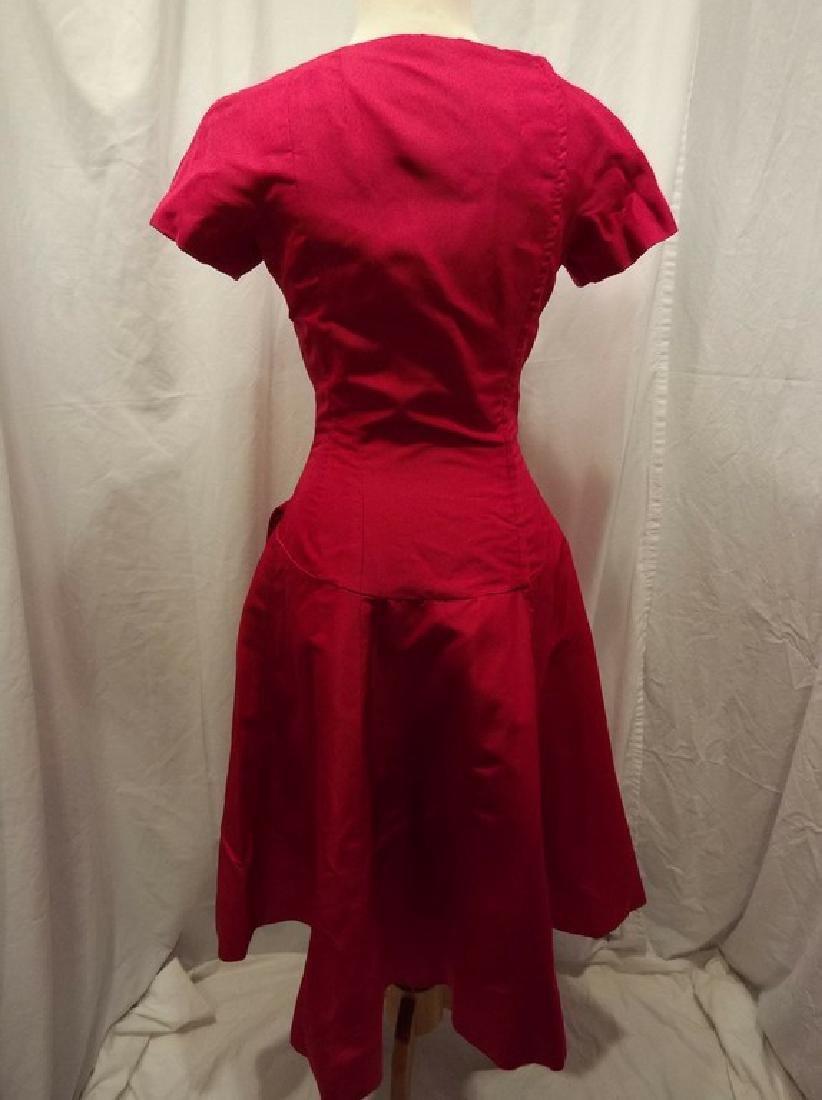 1960's Fuchsia Pink Cocktail Party Dress by Estevez - 5
