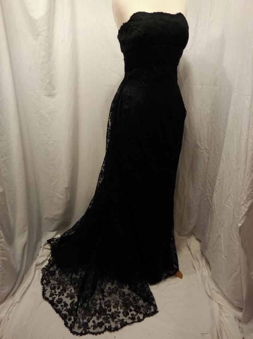 """Stunning Ladies 1960's Vintage """"Estevez"""" Black Lace"""