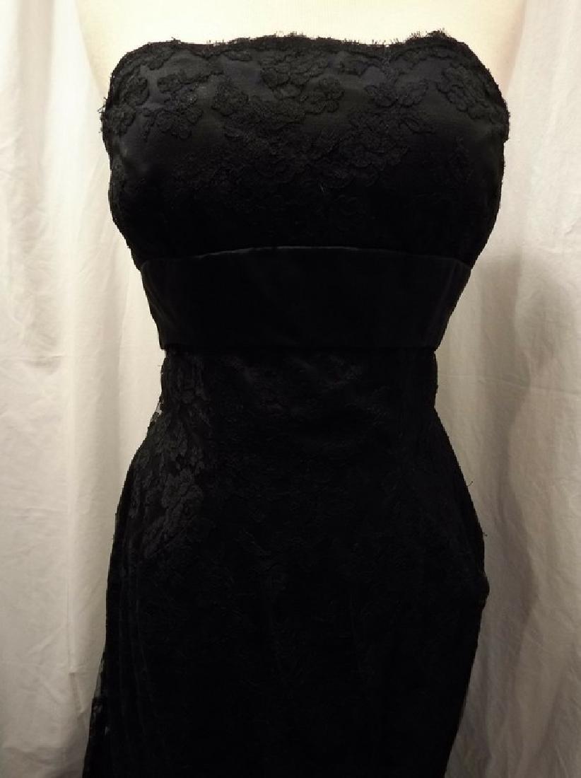 """Stunning Ladies 1960's Vintage """"Estevez"""" Black Lace - 2"""