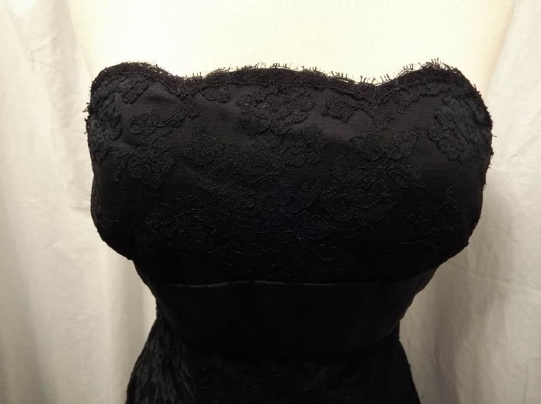 """Stunning Ladies 1960's Vintage """"Estevez"""" Black Lace - 3"""