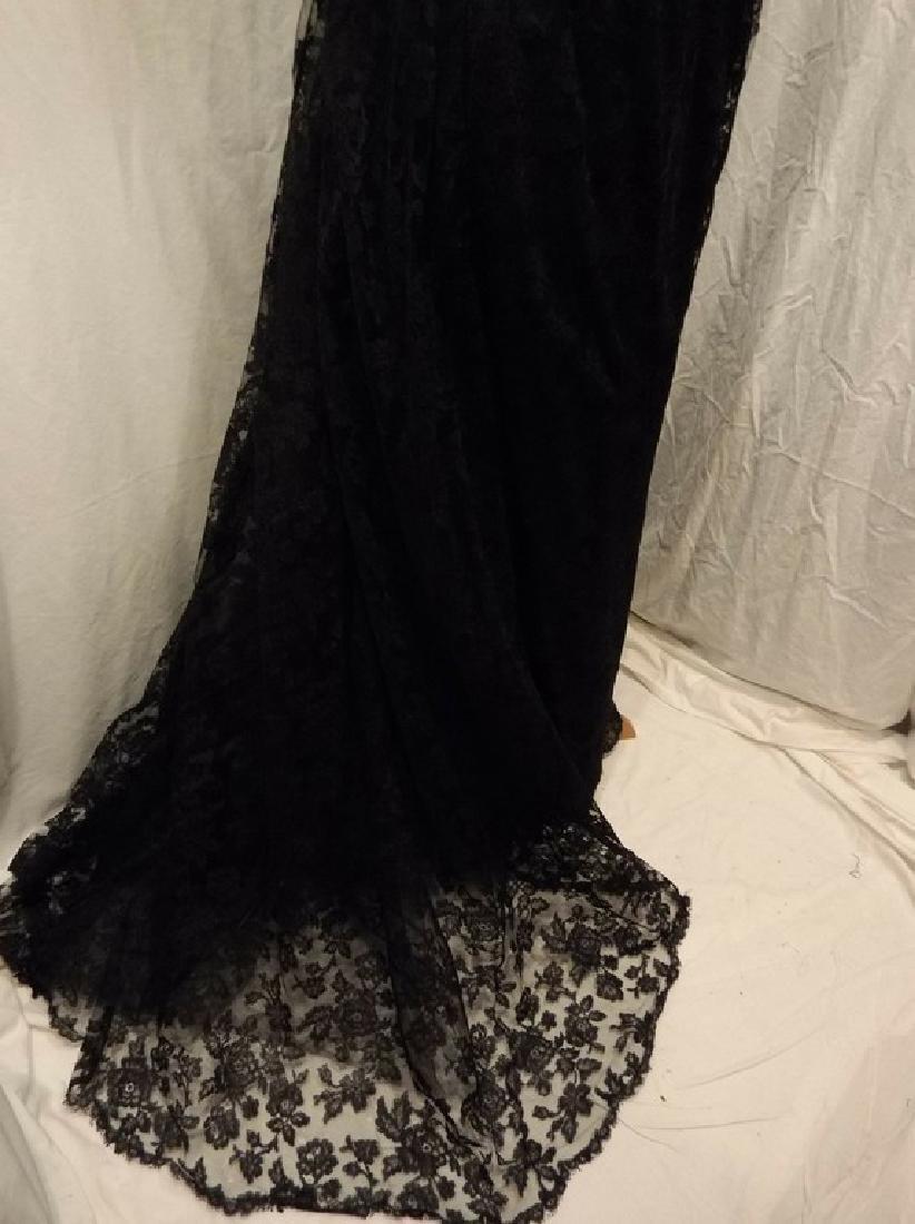 """Stunning Ladies 1960's Vintage """"Estevez"""" Black Lace - 4"""