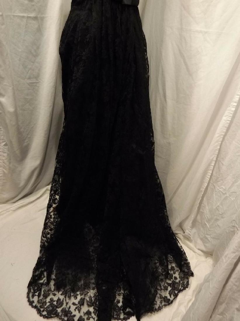 """Stunning Ladies 1960's Vintage """"Estevez"""" Black Lace - 7"""