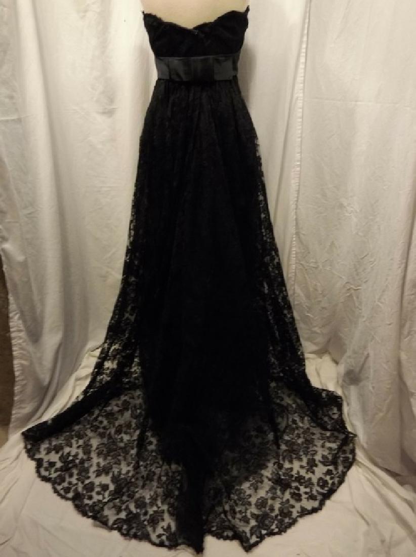 """Stunning Ladies 1960's Vintage """"Estevez"""" Black Lace - 9"""