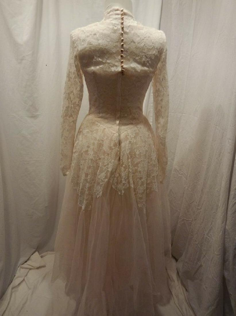 Beautiful Ladies 1950's Vintage pale Pink Tulle & Lace - 4