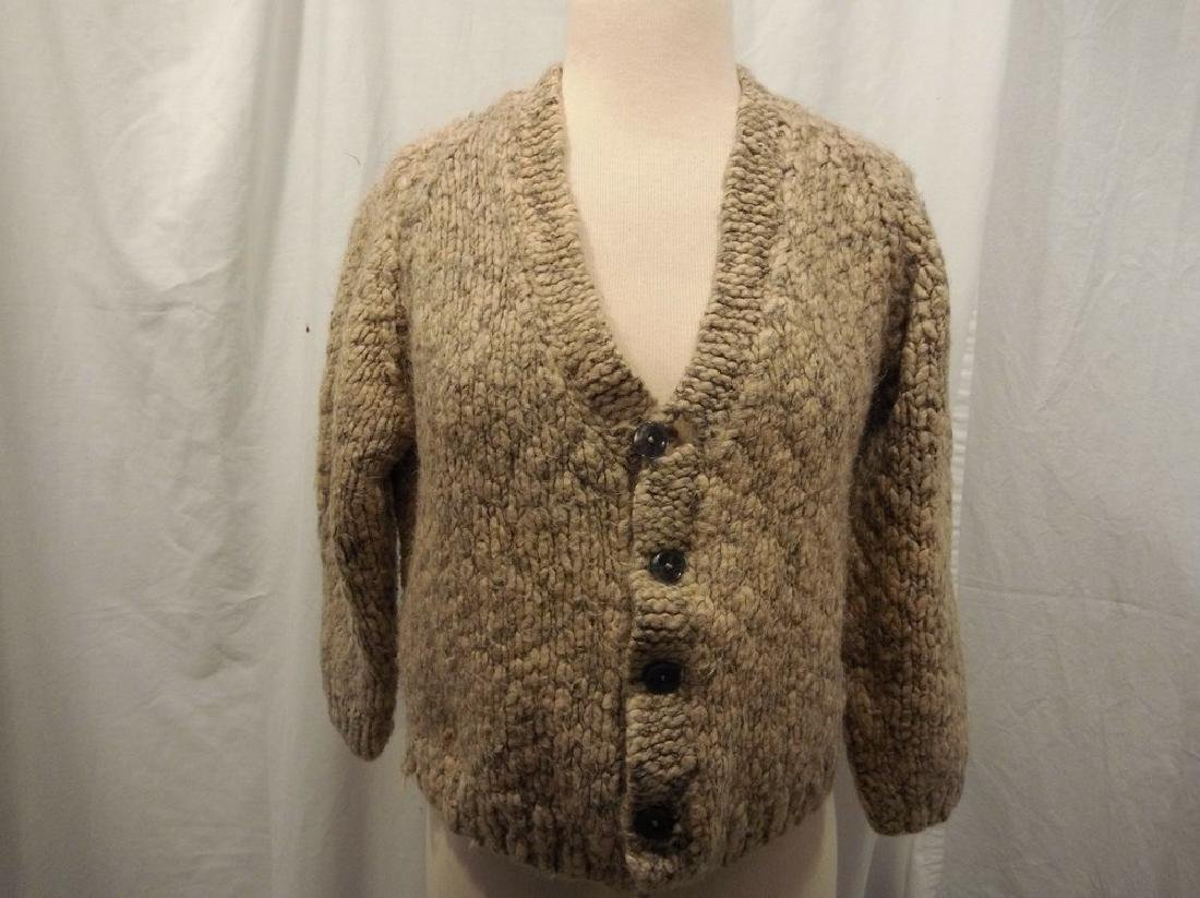 1950's Wool Hand Knit Ladies Cardigan Sweater