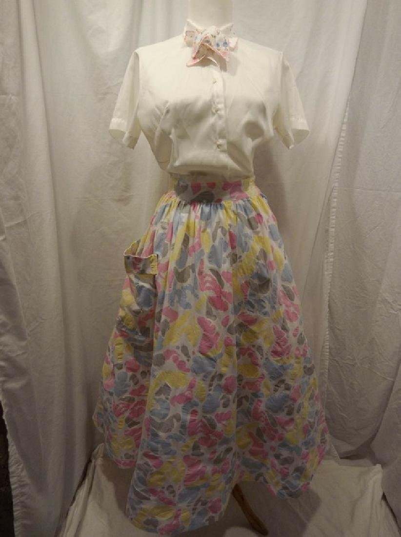 1950/60 Vintage Skirt & Top, skirt by Star of India