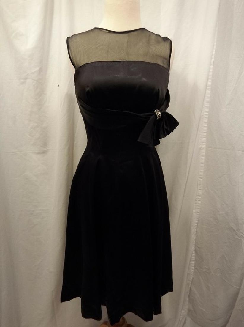 1950's Black Cocktail Dress