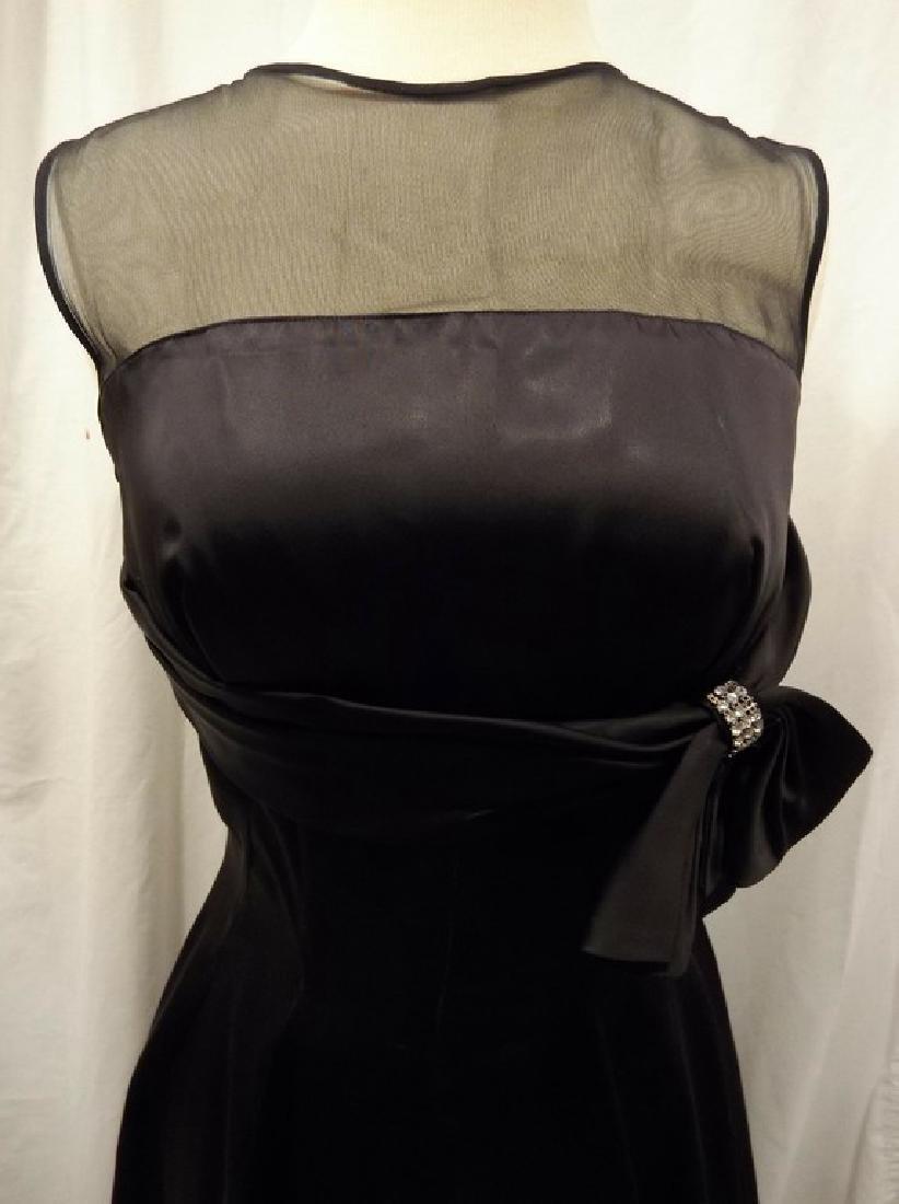 1950's Black Cocktail Dress - 2