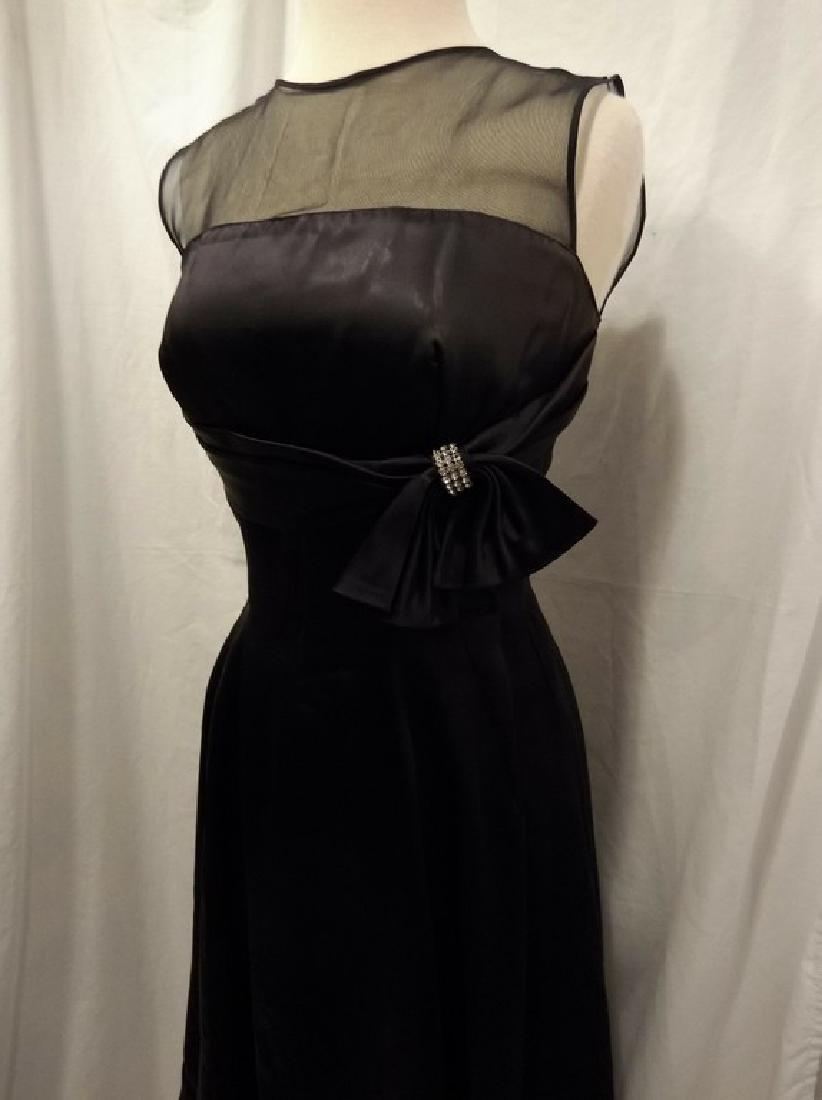 1950's Black Cocktail Dress - 3