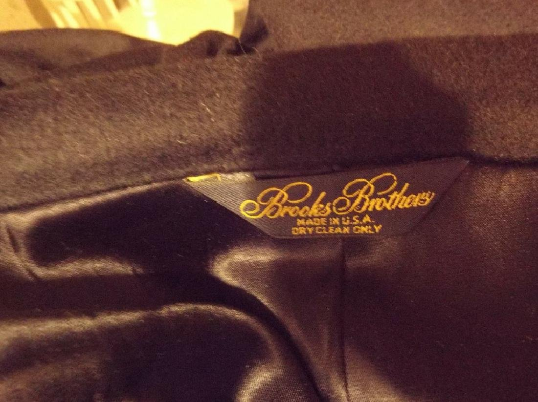 Men's 1998 Brooks Brothers 100% Cashmere Over Coat, - 9