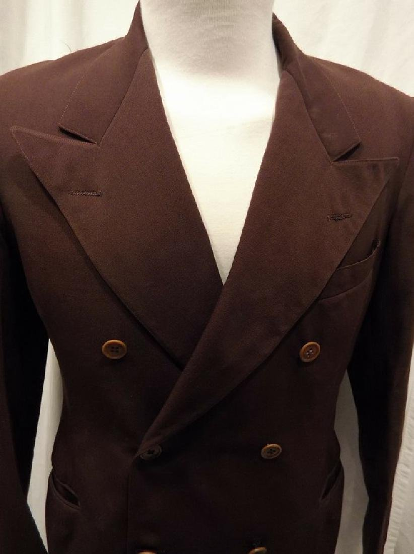 Men's Vintage 1940's Gabardine Suit Coat, double - 2