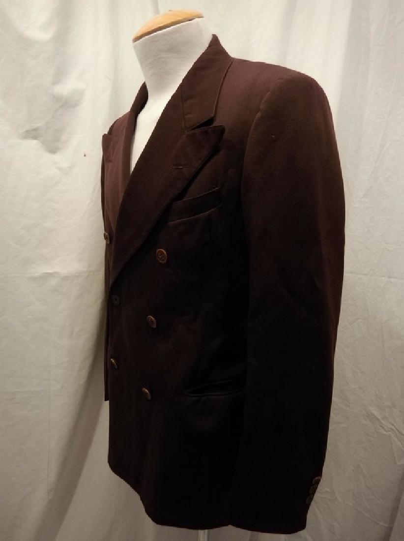 Men's Vintage 1940's Gabardine Suit Coat, double - 3