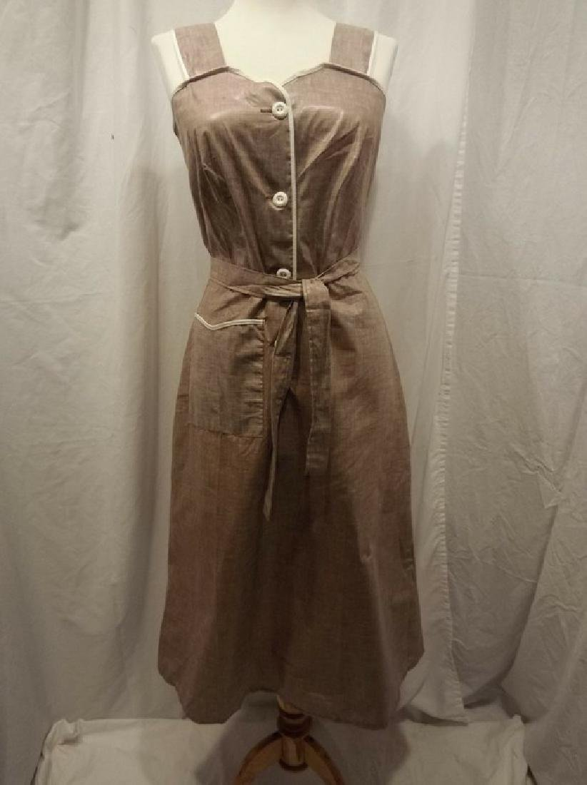 1950's Brown Chintz Frock