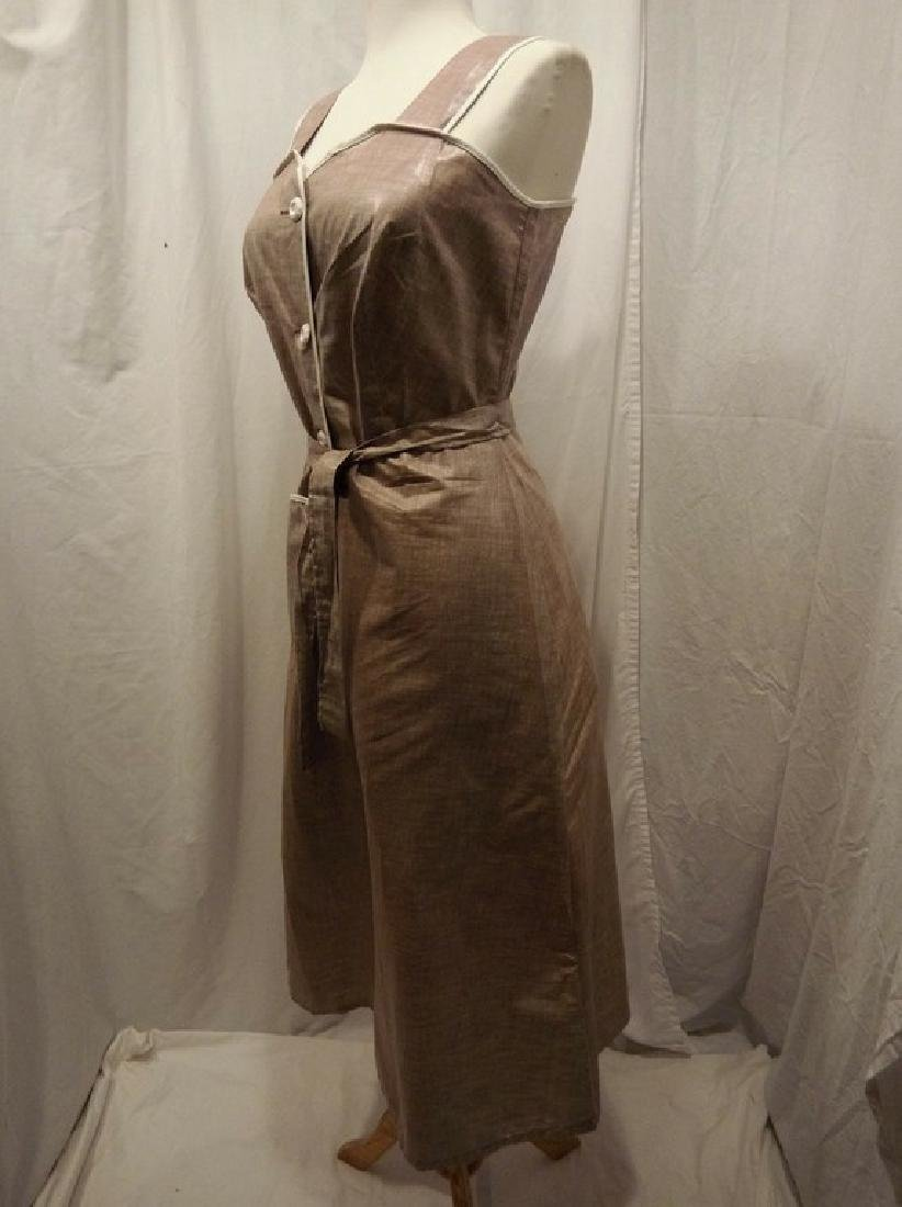 1950's Brown Chintz Frock - 3