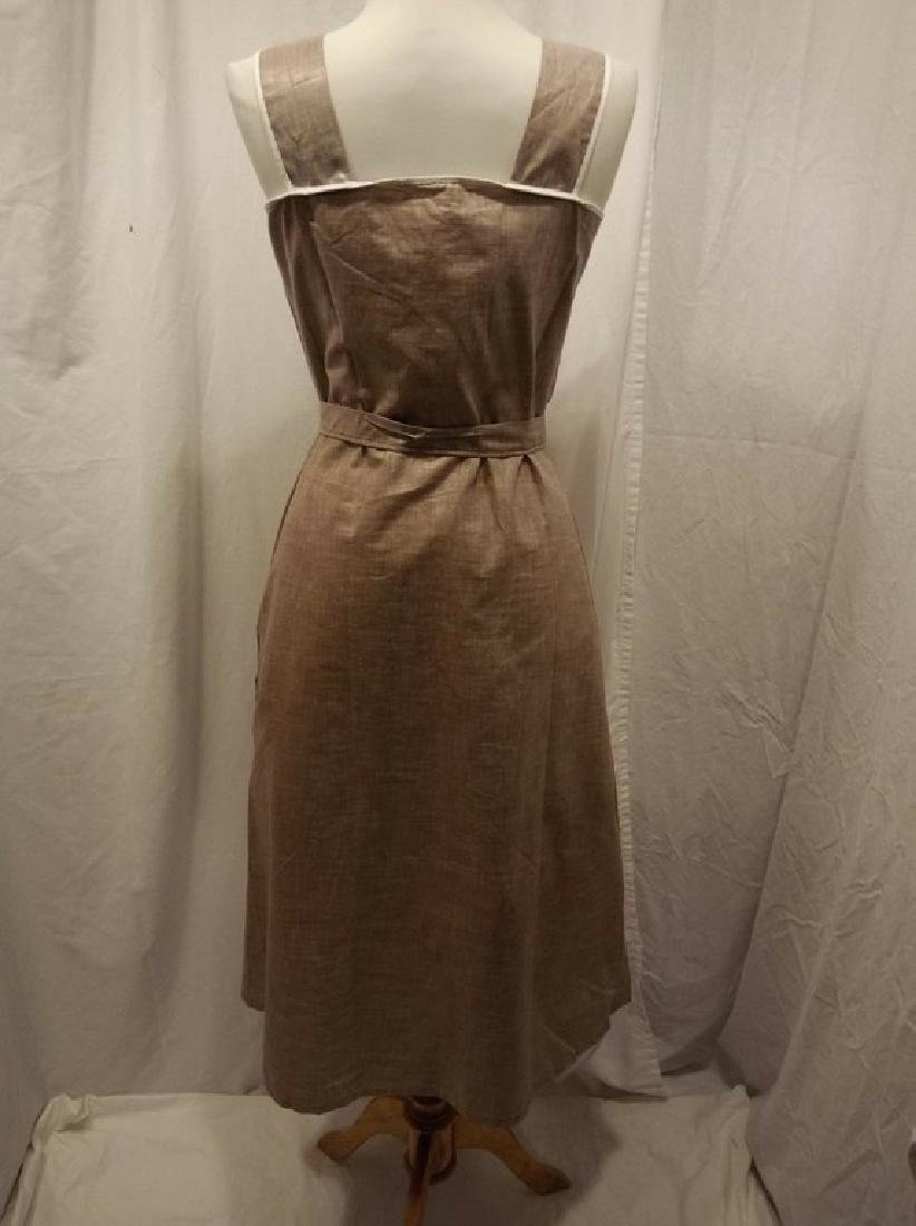 1950's Brown Chintz Frock - 4