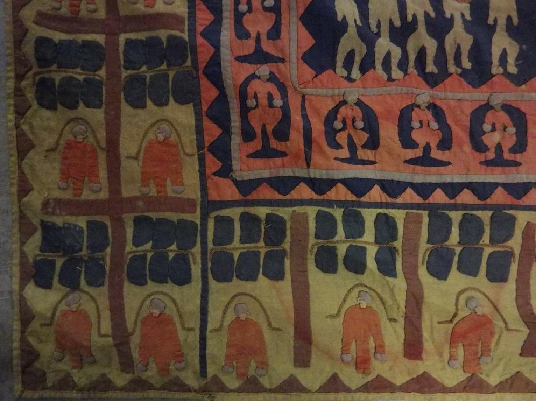 Large Vintage/Antique Indian Applique Kanduri Shrine - 3